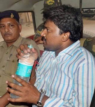 JD(U) MLC Manorama Devi's son Rocky Yadav, arrested for killing the teenage boy Aditya Sachdeva in a road-rage, is taken to the court in Gaya