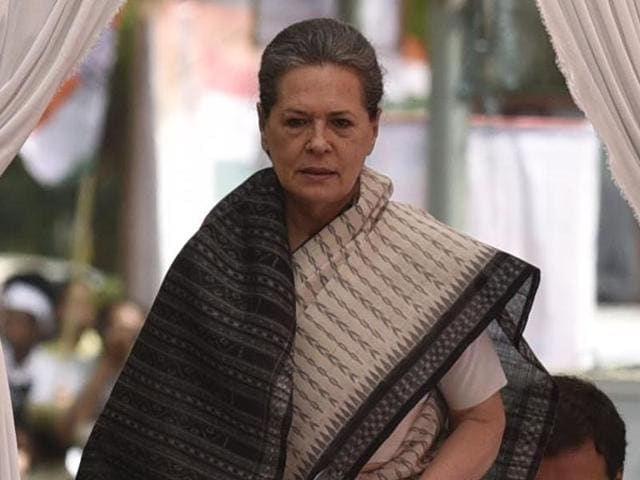 Congress president Sonia Gandhi's emotional outburst on Monday has become the party's latest weapon to attack the BJP on social media. (Photo by Vipin Kumar / Hindustan Times)