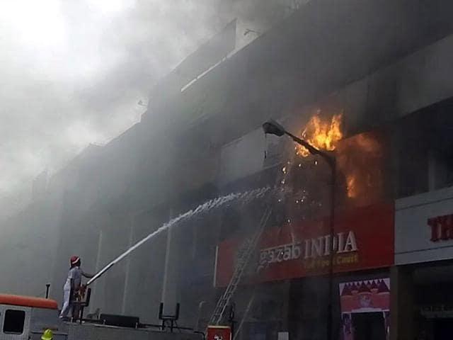 aakash institute,fire at panchkula,short-circuit