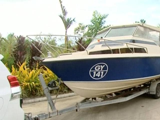 The interior of a boat, which Australian police have seized, is seen in Cairns, Queensland, Australia is pictured in this still image taken from video, May 11, 2016.