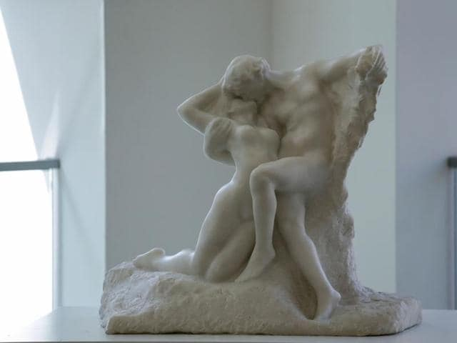 The work -- conceived by Rodin in 1884 and sculpted in 1901-1903 -- is just 31.5 inches wide by 26.25 inches tall (80 by 66.7 centimeters). Its $20.41 million sale price more than doubled auctioneers's expectations of at least $8 million.