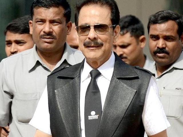 File photo of  Sahara group's chairman Subrata Roy .
