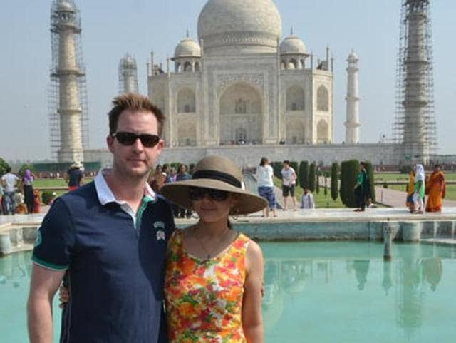 Preity Zinta and husband Gene Goodenough visited the Taj Mahal and were left spellbound by its beauty.