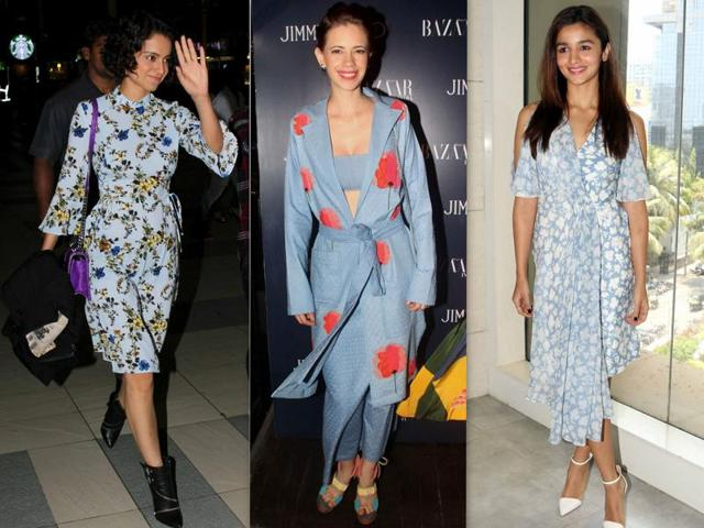Actors Kangana Ranaut, Kalki Koechlin and Alia Bhatt rock floral prints.