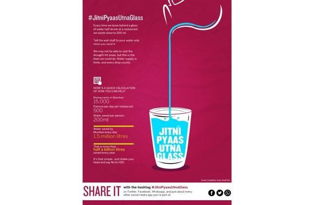 The artwork for the 'Jitni Pyaas Utna Glass' campaign