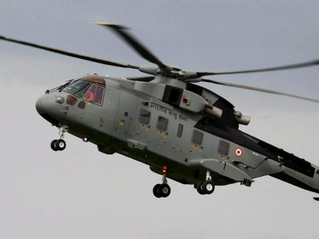 A file photo of AgustaWestland (AW 101) VVIP air force helicopter. Middleman Christian Michel said he is open to being questioned via video-conferencing.