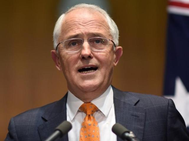 Australian Prime Minister Malcolm Turnbull speaks to the media during a news conference at Parliament House in Canberra.
