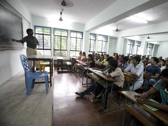 (Representative image)HRDministry says college and varsity students will have a say in evaluation of teachers.