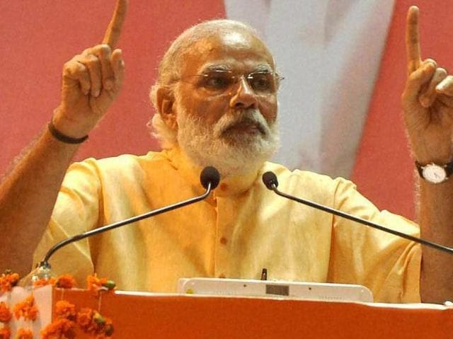 Prime Minister Narendra Modi addressing an election rally in Kochi on Wednesday.
