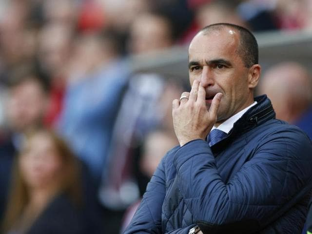 Everton have won just one of their last 10 league games and some fans turned on Martinez after they lost 4-0 to local rivals Liverpool last month.