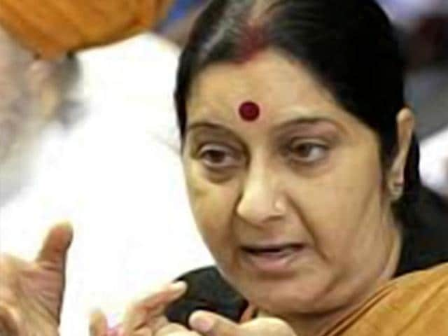External affairs minister Sushma Swaraj. (HT File Photo)