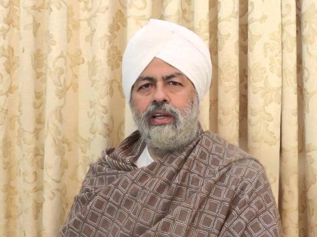 File photo of Nirankari spiritual head Hardev Singh.(Agency)