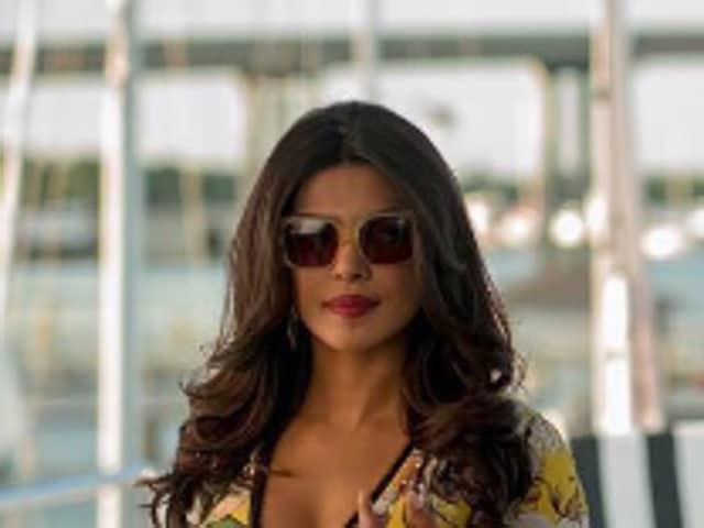 Dwayne Johnson with Quantico's beautiful villainess, Priyanka Chopra.