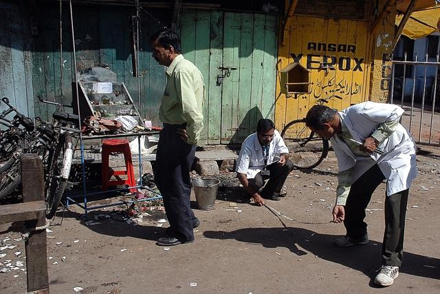 Forensic experts search for clues at the blast site in Malegaon, some 175 miles (280 kilometres) northeast of India's financial hub Mumbai.