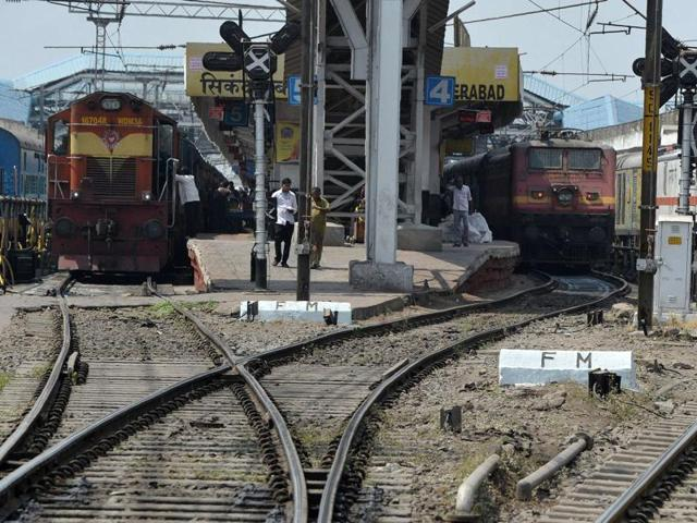 The train was about to enter the Bhopal railway station when its electrical engine caught fire near platform number 6.