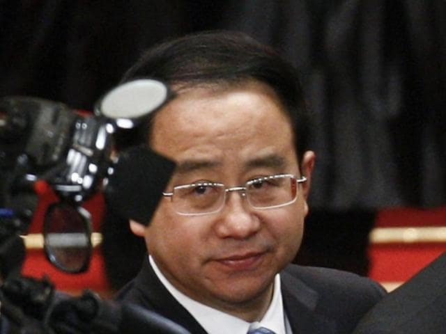 Ling Jihua, then vice chairman of the Chinese People's Political Consultative Conference at a meeting in Beijing on March 11, 2013.