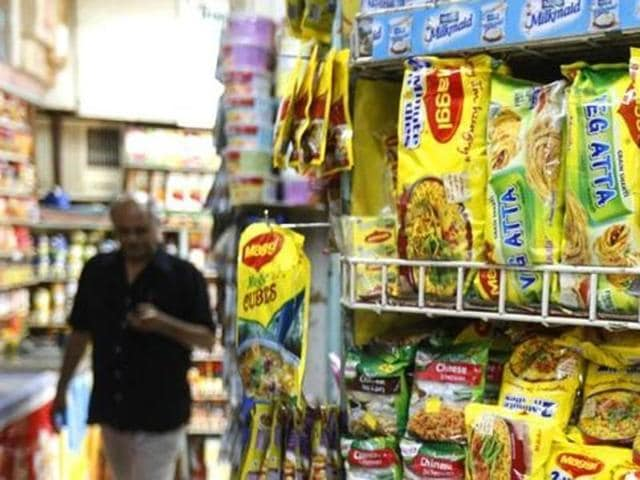 File photo of packets of Nestle's Maggi instant noodles at a shop.