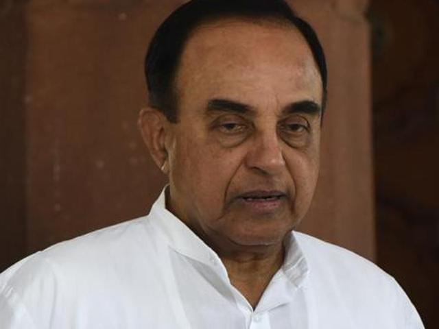 BJP Rajya Sabha MP Subramanian Swamy .  Congress has said it will move a privilege motion against Swamy and defence minister Manohar Parrikar on Friday, May 13, 2016, the last day of the Budget session of Parliament.
