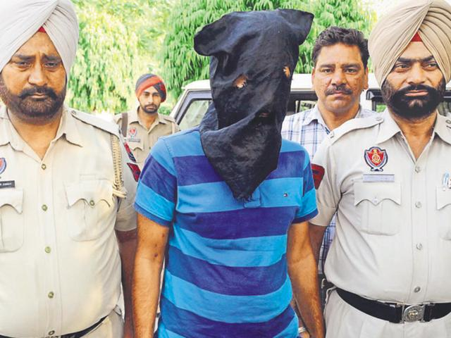 The accused in Patiala police custody on Thursday.