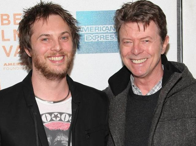 Director Duncan Jones and father David Bowie attend the premiere of Moon during the 2009 Tribeca Film Festival.