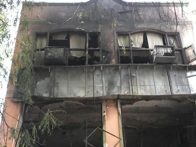Fire breaks out,Rajnagar building fire,Fire accidents