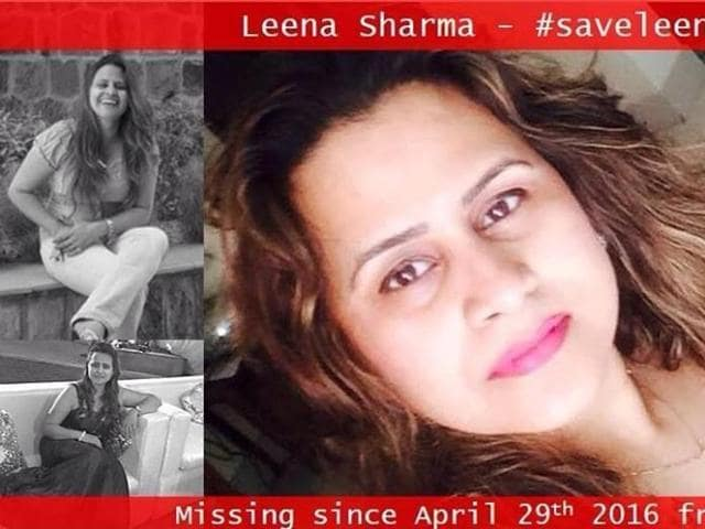 Leena Sharma's friends set up a Facebook page to help find her.