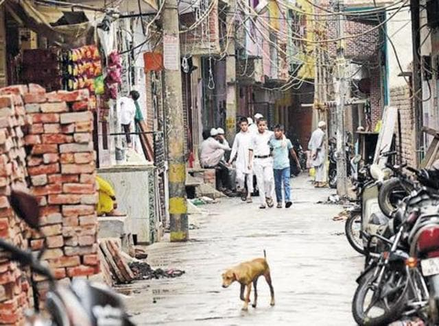 By-lanes of Chand Bagh in Bhajan Pura area of east Delhi from where some of the JeM suspects were detained by the Delhi Police.