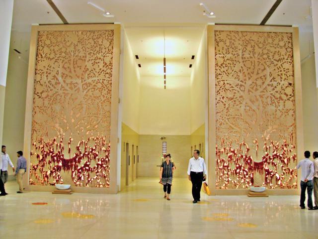 The Trees of Life installation at the Medanta hospital, Gurgaon, created by Rajasthani artist Ruchit Tiwari