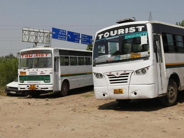 Over 50 teams of Delhi transport department impounded private buses plying illegally from areas such as Dhaula Kuan, Peeragarhi, Anand Vihar and Sarai Kale Khan.