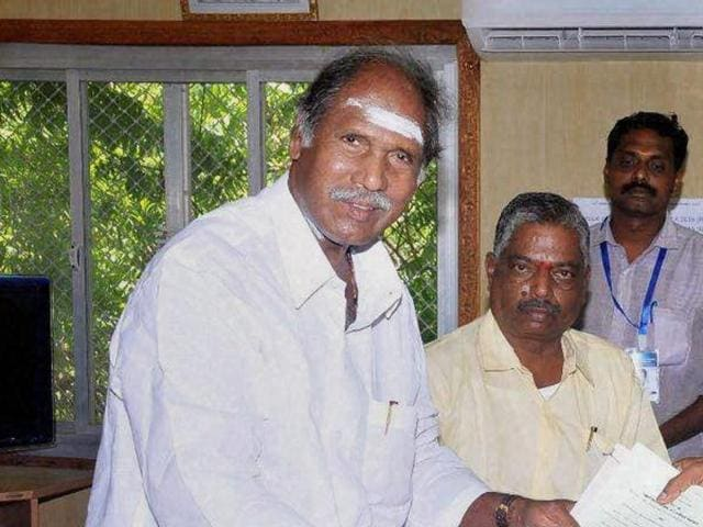 File photo of Puducherry chief minister N Rangasamy.