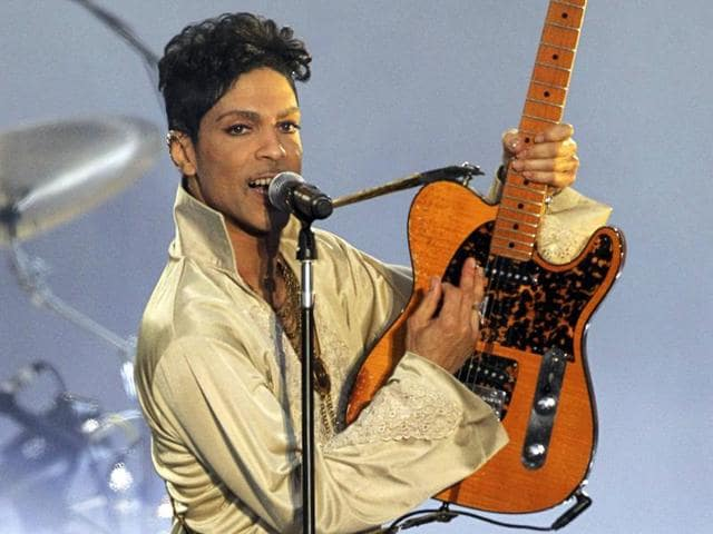 American musician Prince performing for the first time in Britain since 2007 at the Hop Farm Festival near Paddock Wood, southern England on July 3, 2011.