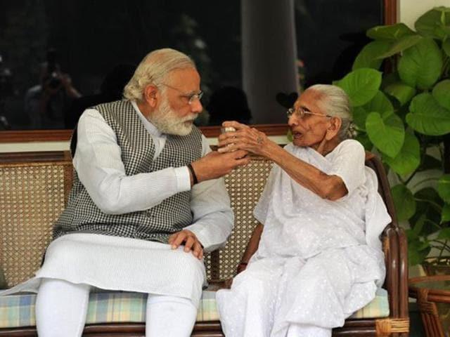Narendra Modi,Heeraben,Indian Prime Minister
