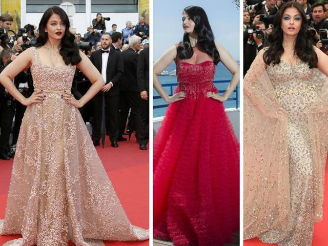 We bring you three amazing red carpet looks of Aishwarya Rai Bachchan as she stops Cannes Film Festival in its tracks.
