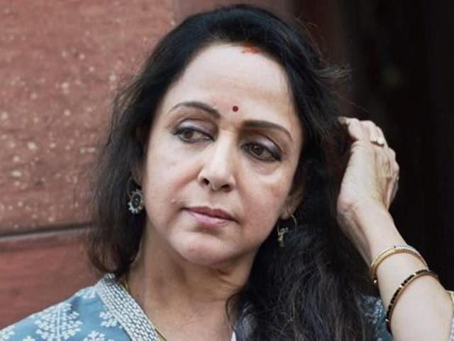 The husband of a village pradhan in Mathua district filed a complaint on Saturday alleging he was insulted by BJP MP Hema Malini.