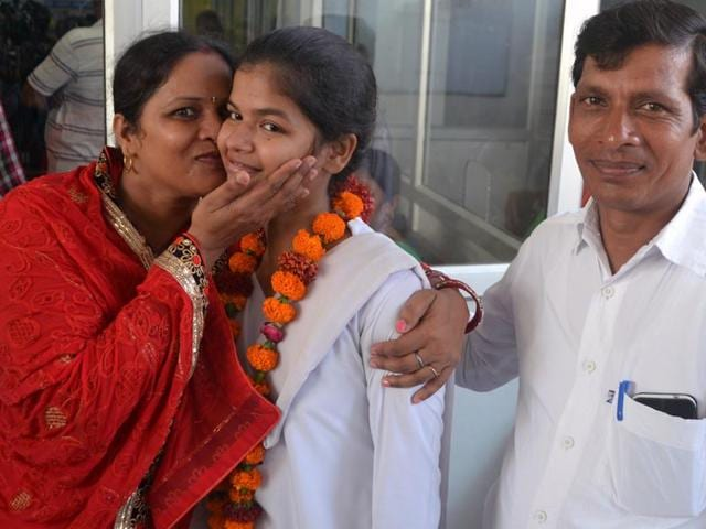 Sonali Verma, a farmer's daughter, on Sunday secured the second rank in the Class 12 examination conducted by the Uttar Pradesh board.