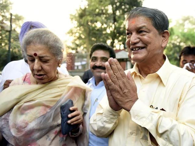 In this file photo, Uttarakhand chief minister Harish Rawat is seen after meeting party president Sonia Gandhi in New Delhi/