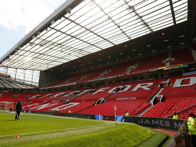 Fans are being evacuated from the Old Trafford stadium before the match.
