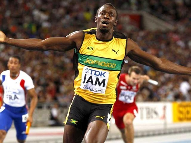 Making his first strides on the road to the Rio Games in August, Bolt crossed the finish line in 10.05 seconds.