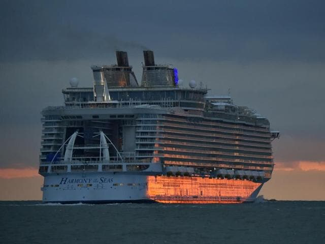 Harmony of the Seas is the world's latest supersized passenger liner.