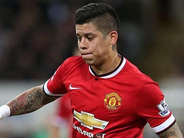 Afile photo of Manchester United defender Marcos Rojo.