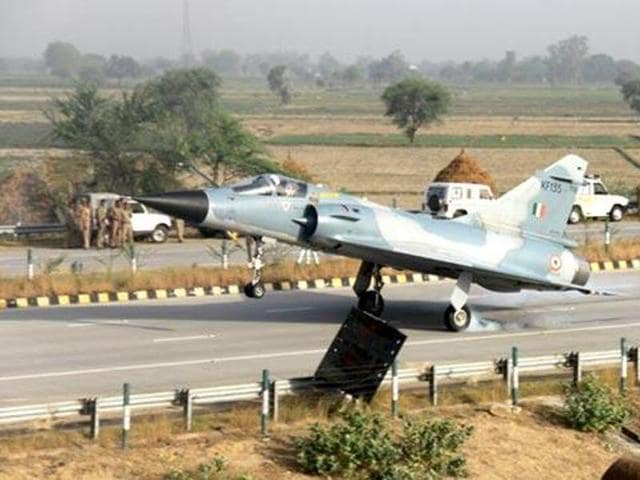 The IAF had landed a fighter jet on Yamuna Expressway last year.
