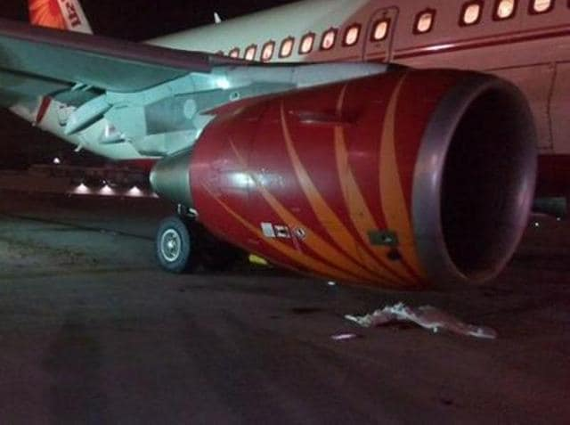Air India,Air India Accident,Technician sucked into plane engin