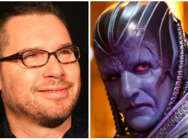 Director Bryan Singer (L) and the villain of the new X-Men film, Apocalypse (R) as played by Oscar Isaac.