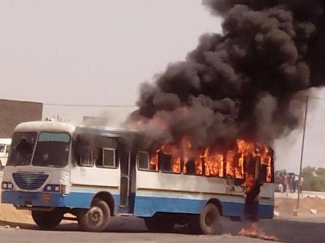 Hisar villagers,Haryana Roadways bus,Chandigarh-bound bus