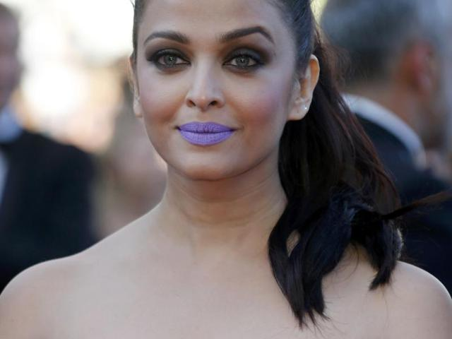 Aishwarya Rai  Bachchan's purple lips during the recent Cannes red carpet appearance were a subject of mirth and envy on Twitter. What do you say?