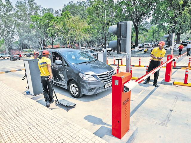 Sector-17 parking lots,Chandigarh,Multi-level parking