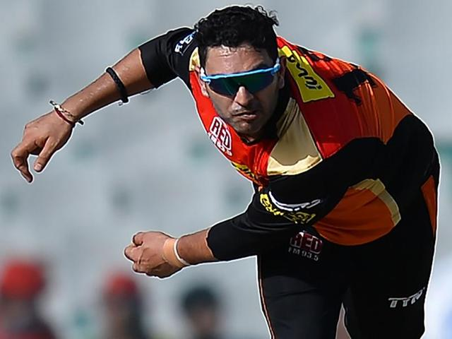 Yuvraj interacted with a group of cancer survivors after Sunrisers Hyderabad's win over Kings XI Punjab on Sunday.