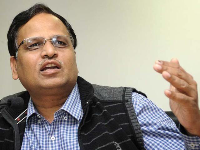 Delhi health minister Satyendra Jain. (File Photo)