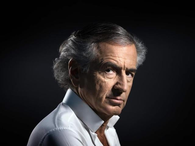 This file photo shows French philosopher and writer Bernard-Henri Levy posing in Paris.