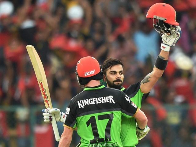 Virat Kohli and AB de Villiers brought up individual centuries against Gujarat Lions.